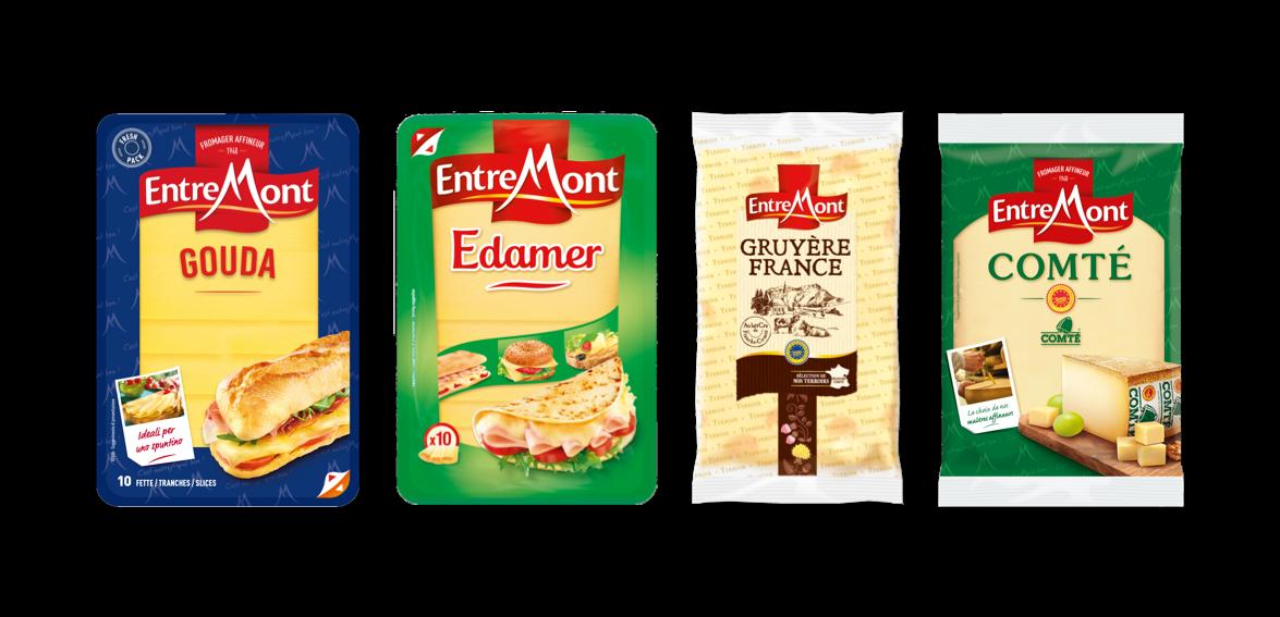 Entremont Gouda Edamer Comte gruyere cheeses
