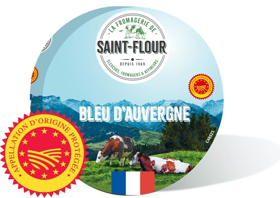French Bleu D'Auvergne Saint Flour cheese