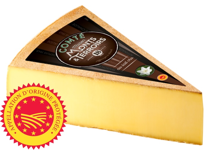 French Comte cheese 18 months ripening