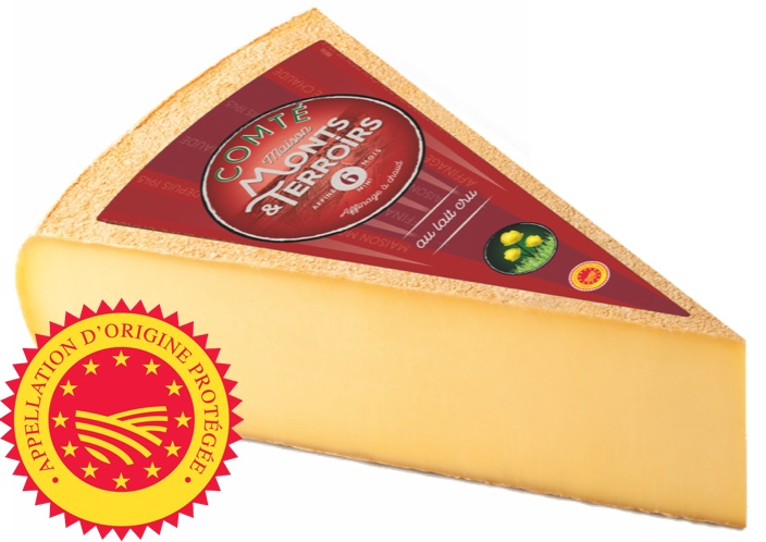 French Comte cheese 6 months ripening