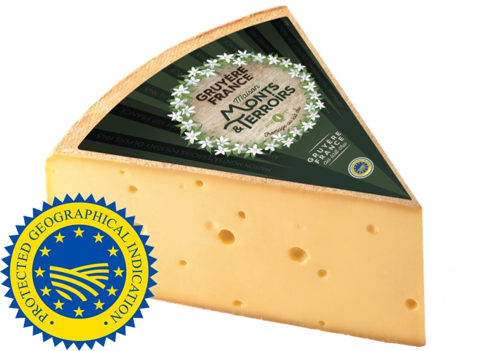French Gruyere de France cheese 4 months ripened