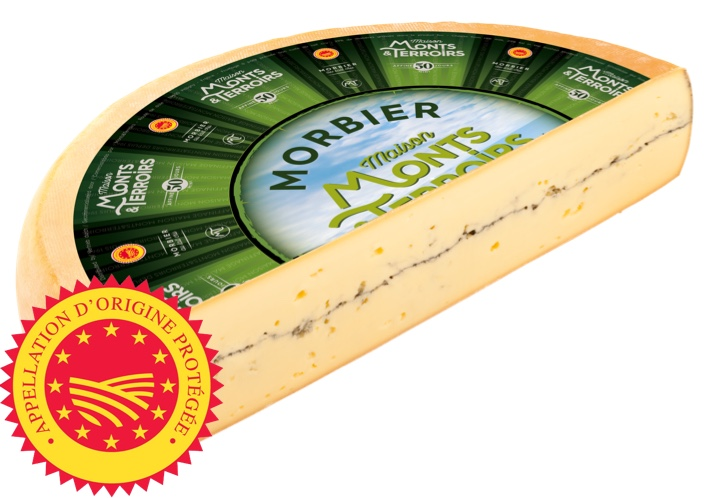 French Morbier cheese 50 days ripened