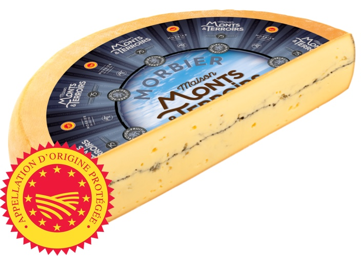 French Morbier cheese 75 days ripened