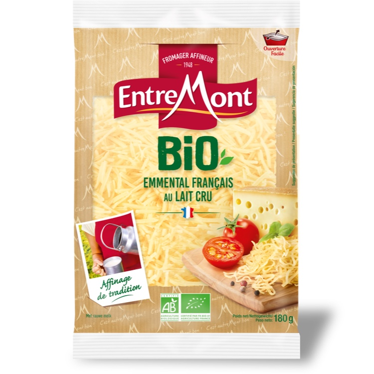 Organic Entremont Emmental Bio grated 180g