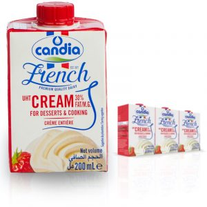 CANDIA UHT 30% fat CREAM 20cl single pack shots